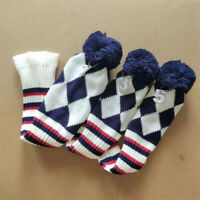 3pcs Wool Knit Golf Driver Fairway Wood Headcover Pom Pom Head Covers Set 1 3 5