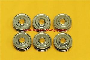 (6) Metal Rotary Bobbins (Kenmore 117 Series, White, Domestic) Part # 744