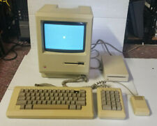 Vintage Apple Macintosh 512K M0001W + Keyboard M0110, M0120 & Mouse M0100 +M0130