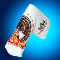 New Russia Roulette Golf Putter Cover Headcover For Scotty Cameron Blade White