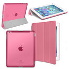 Tri-fold Magnetic Ultra Slim Transparent Smart Cover Case for iPad 2 3 4