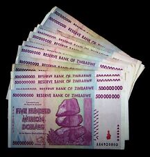 5 x Zimbabwe 500 million Dollars-circulated collectible currency