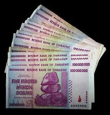 10 x Zimbabwe 500 million Dollars-circulated collectible currency