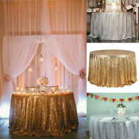 47 Inch Sparkle Round Sequin Tablecloth Table Cover Wedding Party Banquet Event