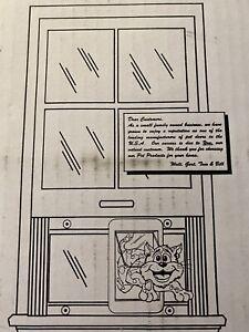 "Ideal Pet Aluminum Sash Window Chubby Cat Flap Pet Door White 1.25""x23""x10.75"""