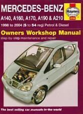 Haynes MERCEDES A CLASS A140 A160 A170 A190 A210 VANEO Owners Handbook Manual