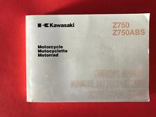 KAWASAKI Z 750 / ABS 2008 Bedienungsanleitung Handbuch Manual EN FR DE