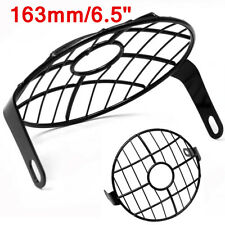 """6.5"""" Retro Round Motorcycle Parts Headlight Grill Side Mount Cover Cafe Racer"""