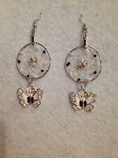 earrings (0816) Black Butterfly Dreamcatcher