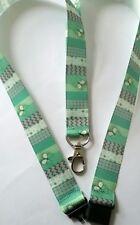 Butterfly on green ribbon lanyard breakaway ID holder teacher Christmas gift