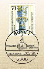 BRD 1985: Dominikus Zimmermann Nr. 1251 mit Bonner Ersttagssonderstempel! 1A 156