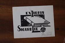 ✒ EX LIBRIS Sigurd Lie par Rie Stoffens