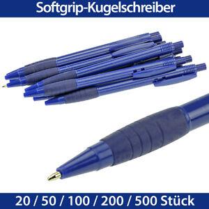 Kugelschreiber blau Softgrip blau Druckkugelschreiber Sparpack 20 bis 500 Stück