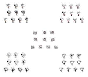 50pcs silver CZ European Charm Beads For Bracelet Necklace Pendant Chain