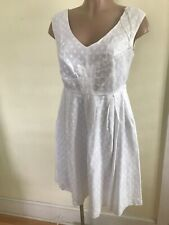 East 5th Womens Size 6 Petite White Polka Dot Lined White Dress NWT
