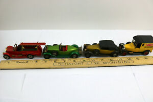 Lot of 4 - Lesney Matchbox Vintage Models of Yesteryear 1970s Diecast Cars