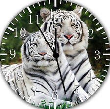 White Tiger Frameless Borderless Wall Clock Nice For Gifts or Decor E366