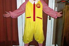 New Adult Ronald McDonald Clown Costume and socks Halloween LG-XL Free Shipping