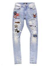 Amiri Patch Work Pony Hair silk bandana type patch Distressed Jeans Size 32 RARE