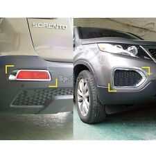 K-028 Chrome Bumper Reflex Cover Guard for Kia Sorento R 2010-2012
