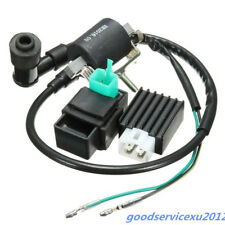 ATV Bikes Black Ignition Coil CDI Unit Rectifier Regulator For 110cc 125cc 140cc