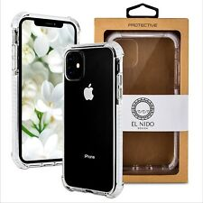 Case Compatible with iPhone 11 Crystal Clear and white Extra Shockproof