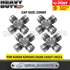 4 UNI UNIVERSAL JOINT FOR TOYOTA HILUX 4WD LN106R LN167R LN172R KUN26 FRONT&REAR
