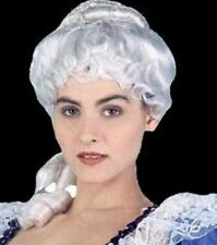 Colonial Lady Female White Deluxe Adult Costume Wig