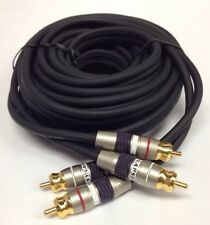 2 Belkin Synapse High Quality Dual RCA Audio Cable Pair 20ft - F8C202-20-SLV-M