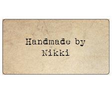 Vintage parchemin fait main tout texte-autocollants personnalisés étiquettes 34x63mm -027