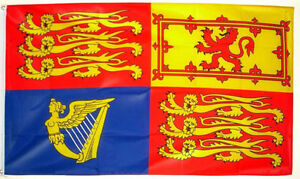 3' x 2' UK Royal Standard Flag Queen Elizabeth ll 70 Years Platinum Jubilee 2022