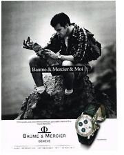 PUBLICITE ADVERTISING 1995   BAUME & MERCIER  montre collection TRANSPACIFIC