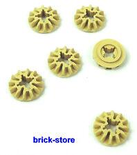 LEGO®  Technic (6589/7938) beige Zahnrad 12 Zähne / 6 STÜCK