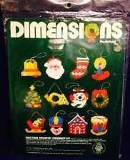 Dimensions Christmas Favorites Ornament KIT Plastic Point Santa Sleigh 9044