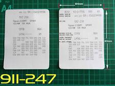 VW Stile 2 VIN dati Bonnet Hood manutenzione LIBRO etichette adesivi