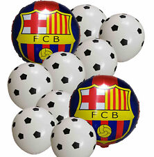 10 Soccer Ball Football Balloon Pack FC Barcelona Soccer Event Party Supplies
