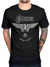 Official Saxon Estd 1979 T-Shirt Heavy Metal Rock Band Merchendise Punk Indie
