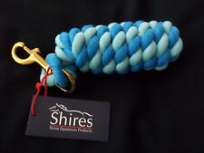 Horses Headcollar Lead Rope with trigger clip - Aqua & Blue Two Tone - by Shires