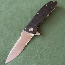 Enlan half-serrated 8Cr13mov Blade Liner Lock Camping Folding Knife Tool EL-01AB