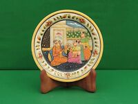 Marble White Plate shah jahan mumtaz hand painted home decor Arts Crafts gifts