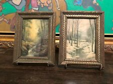 "New Listing Antique Gilt Picture Frames 9.25"" X 7 3/16"" Inches, Set Of 2"