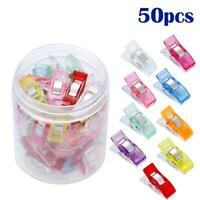 NEW 50pcs Multi Quilting Patchwork Sewing Clips Photo Plastic Hemming Clip