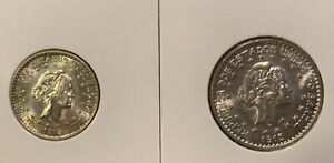 1913 BRAZIL 500 Réis and 1000 Réis Silver Uncirculated (2 coins)