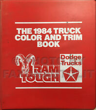 1984 Dodge Truck Color Upholstery Dealer Album Rampage Pickup Ram 50 D150-W350