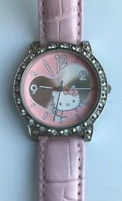Hello Kitty Watch Pink Rhinestone Girls Watch worn twice VGC