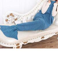 Súper suave mano de ganchillo cola de la sirena manta del sofá de la manta DIY