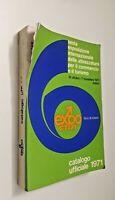 Expo catalogo ufficiale 1971 31 ottobre fiera di Milano