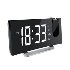 Mpow Projection Clock Fm Radio Alarm Clock Curved-Screen 5'' Led Digital Display