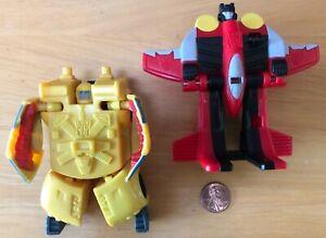 Transformers Armada #2 Hot Shot and #3 Starscream 2002 McDonald's Happy Meal Toy