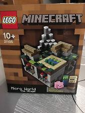 LEGO MINECRAFT 21105 MICRO MONDE MICRO WORLD LE VILLAGE NEUF EN BOITE SCELLEE